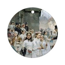 after-the-communion - Carl Frithjof Round Ornament