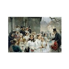 after-the-communion - Carl Frithj Rectangle Magnet