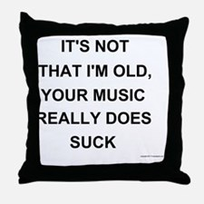 musicdoessuck Throw Pillow