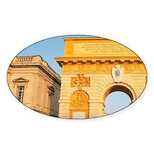 The Arc de Triomphe monument. Montp Decal