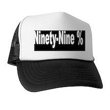 ninety-nine percent white font blk bkg Trucker Hat