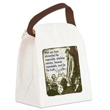 sherlockquote_truthsmalls Canvas Lunch Bag