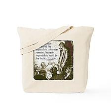 sherlockquote_truthwhite Tote Bag