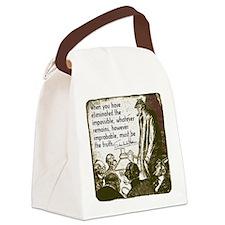 sherlockquote_truthwhite Canvas Lunch Bag