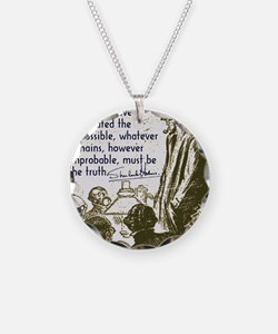 sherlockquote_truthwhite Necklace