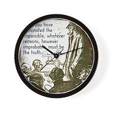 sherlockquote_truthwhite Wall Clock