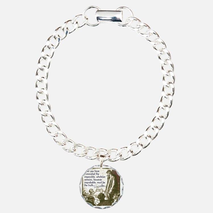 sherlockquote_truth Charm Bracelet, One Charm