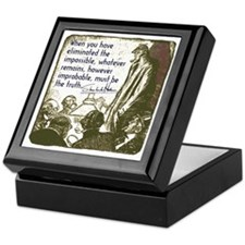 sherlockquote_truth Keepsake Box
