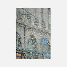 GRENOBLE: Place Grenette: Winter  Rectangle Magnet