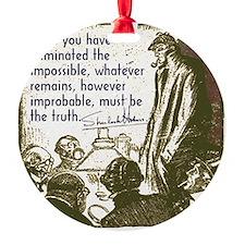 sherlockquote_truth Ornament