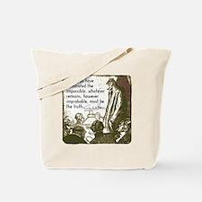 sherlockquote_truth Tote Bag
