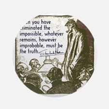sherlockquote_truth Round Ornament