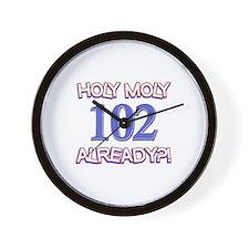 Holy Moly 102 already Wall Clock