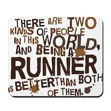runner_brown Mousepad