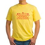 Christmas Humor Yellow T-Shirt
