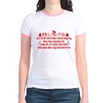 Christmas Humor Jr. Ringer T-Shirt