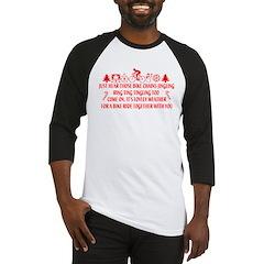 Christmas Humor Baseball Jersey