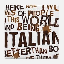italian_brown Tile Coaster