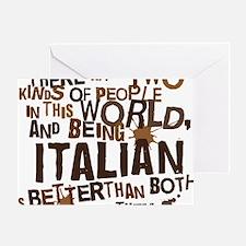 italian_brown Greeting Card