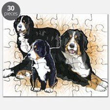 bernese mountain dogs2  Puzzle