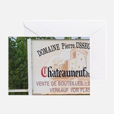 Sign to Domaine Pierre Usseglio. Cha Greeting Card