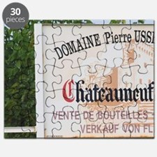 Sign to Domaine Pierre Usseglio. Chateauneu Puzzle
