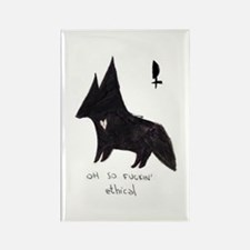fox ethical lilith Rectangle Magnet
