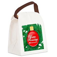 ornament_redball Canvas Lunch Bag