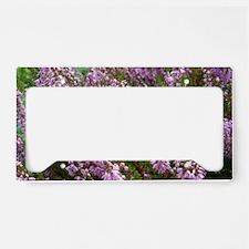 purple heather - wide version License Plate Holder