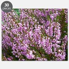 purple heather - wide version Puzzle