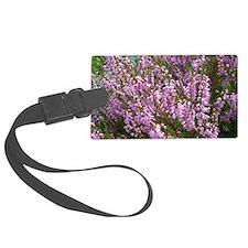 purple heather - wide version Luggage Tag