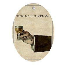 congratulations Oval Ornament
