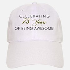 Celebrating 75 Years Awesome Baseball Baseball Cap