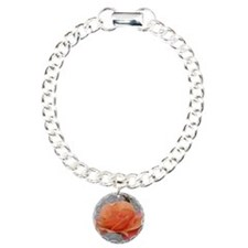 coral rose - squared off Charm Bracelet, One Charm