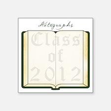 "Autograph Book Dk Green Square Sticker 3"" x 3"""