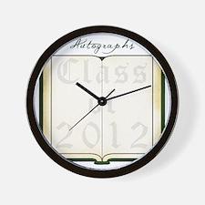 Autograph Book Dk Green Wall Clock
