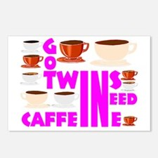 Crazy twins mom Postcards (Package of 8)
