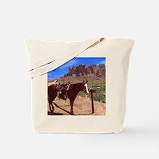 Saddled Horse Tote Bag