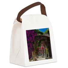 Corsica. Flowers in bloom on arbo Canvas Lunch Bag