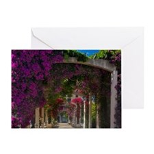 Corsica. Flowers in bloom on arbors  Greeting Card