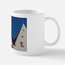 Nuremberg. Typical half-timbered archit Mug