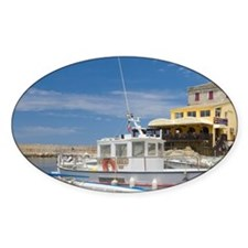 Corsica. Fishing boats at village o Decal