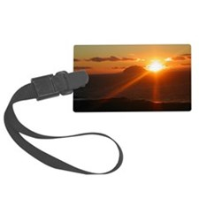 sunset behind Ailsa Craig Luggage Tag