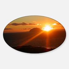sunset behind Ailsa Craig Decal