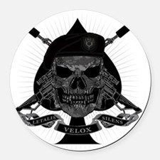 I_WAS_NEVER_HERE_pkt Round Car Magnet