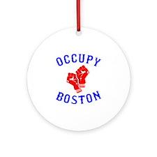 occupyboston.rgb.XL.eps Round Ornament