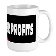 us flag people over profits Mug