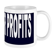 people over profit Aluminum License Pla Mug