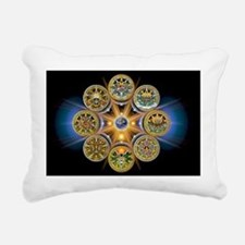Witches Wheel of the Yea Rectangular Canvas Pillow