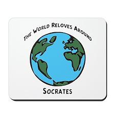 Revolves around Socrates Mousepad